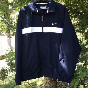 XL-Men's Nike blue/white windbreaker /rain jacket
